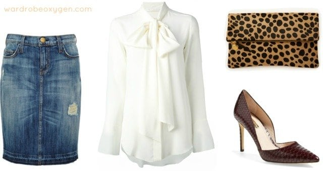 what to wear denim skirt fall winter