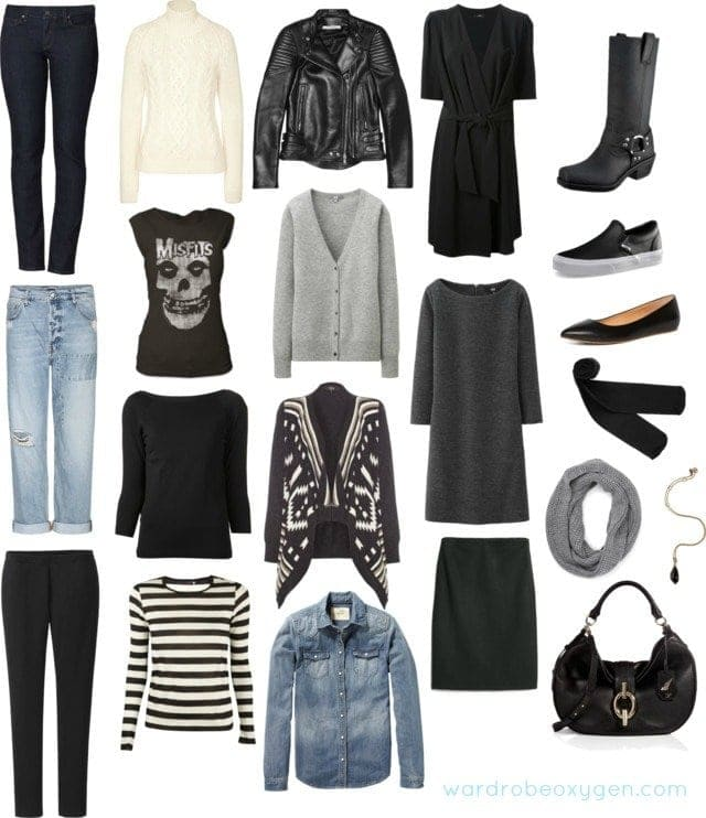 Winter capsule wardrobe for a rock mom for Minimalismus kleidung