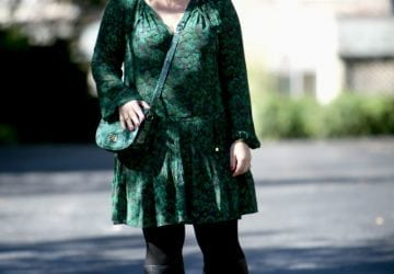 What I Wore: Peacock Green