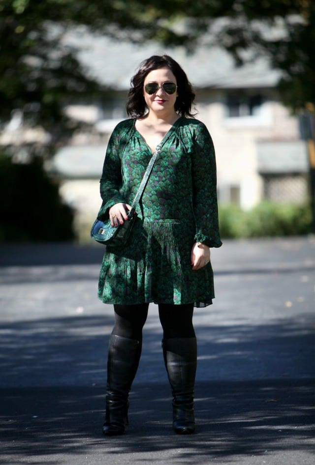 wardrobe oxygen what I wore green michael kors dress