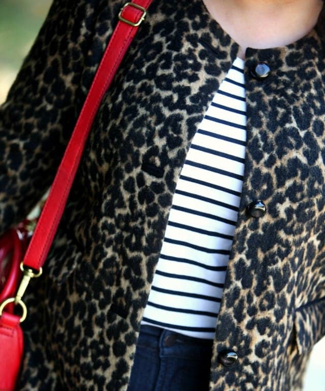 wardrobe oxygen what i wore stripes and leopard