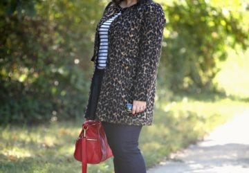 What I Wore: Leopard with Stripes