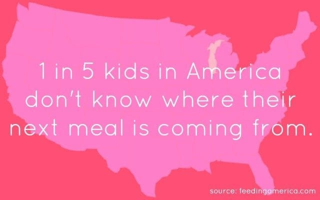 1 in 5 kids in america don't know where their next meal is coming from