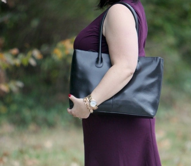 Wardrobe Oxygen What I Wore J. Crew Black Leather Structured Tote