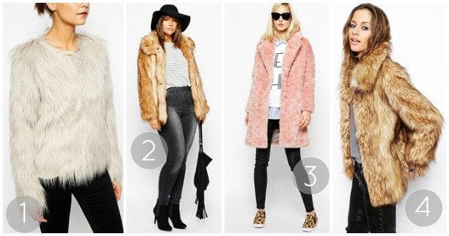 Faux Fur Coat Trends from ASOS
