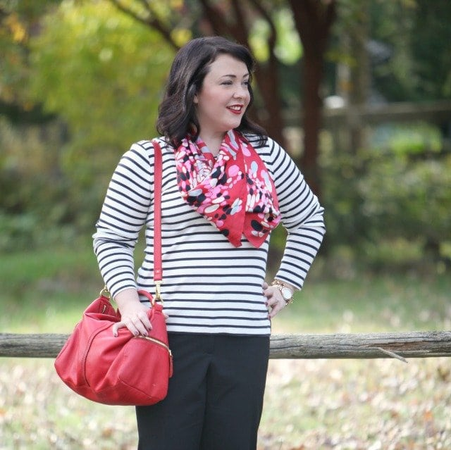 wardrobe oxygen what I wore Red Fossil Leather Erin Satchel