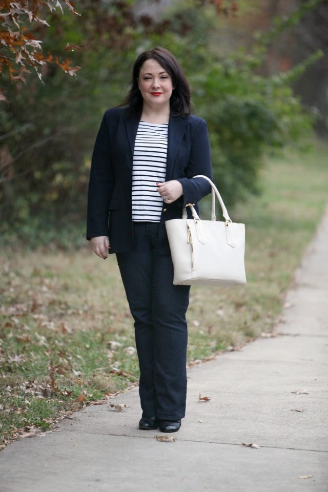 wardrobe oxygen what I wore dagne dover bag review