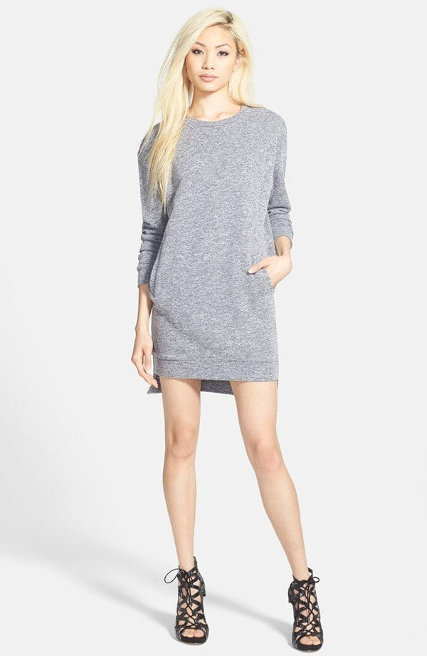Glamorous Sweatshirt Dress from Nordstrom in Gray