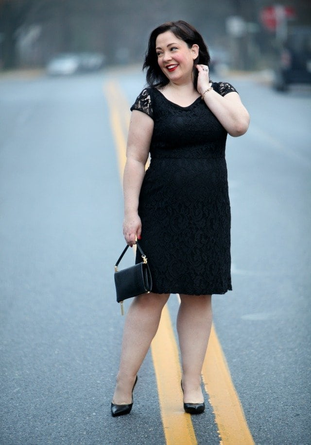 What I Wore: Party Time, Excellent featuring a Dobbin Clothing lace dress, Dagne Dover clutch, and Talbots leopard coat