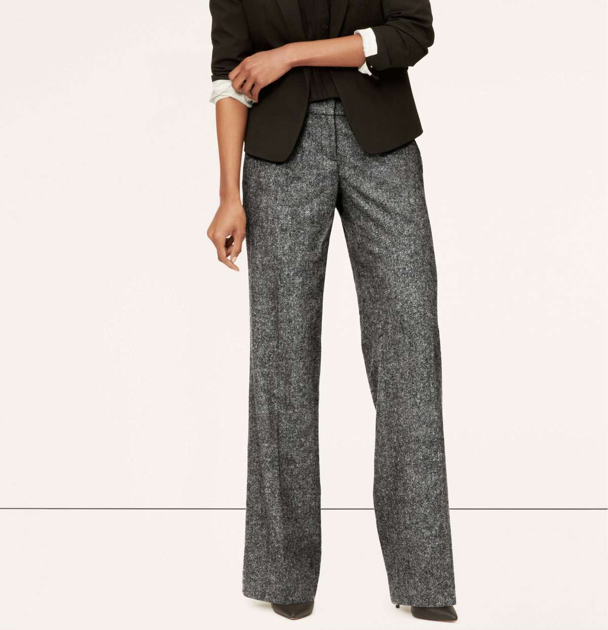 LOFT Peppered Wool Trouser review