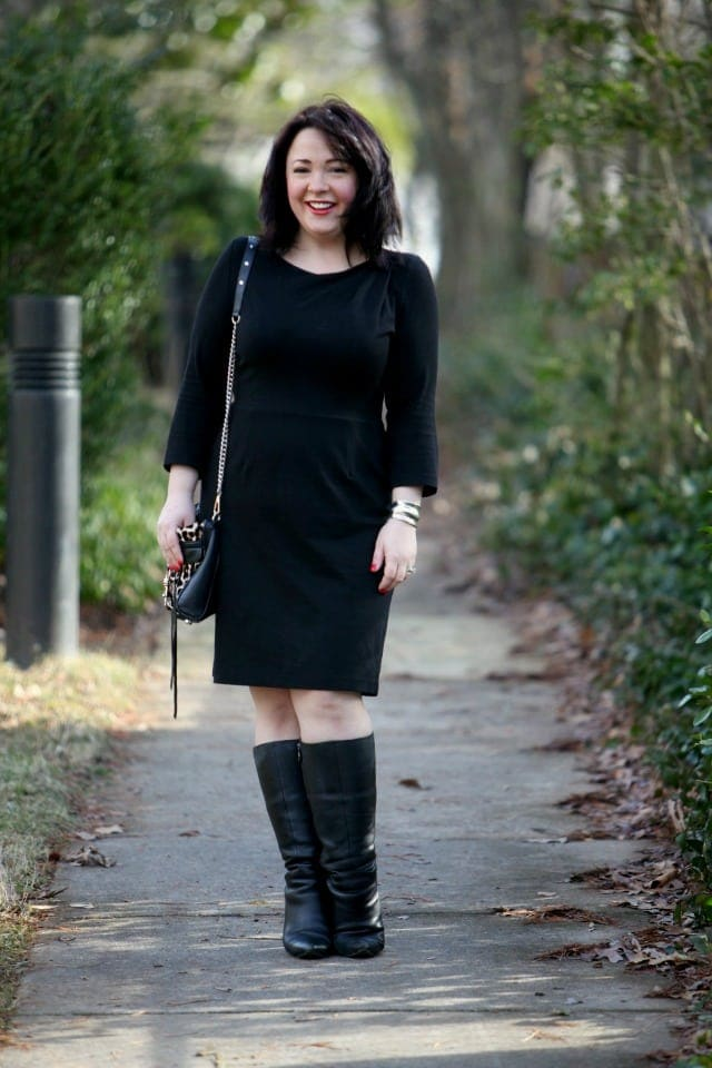 wardrobe oxygen what I wore dobbin clothing ponte dress