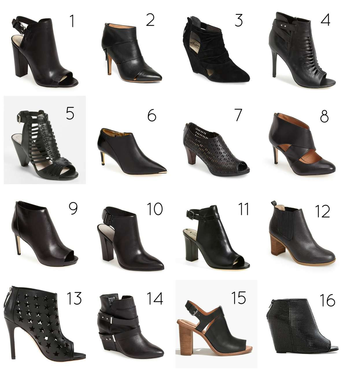 black ankle bootie spring trend