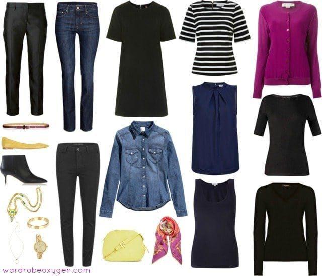 casual capsule wardrobe over 40 jeans denim
