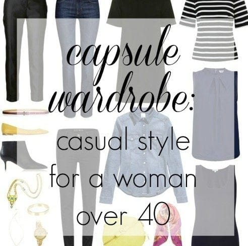 casual capsule wardrobe woman over 40