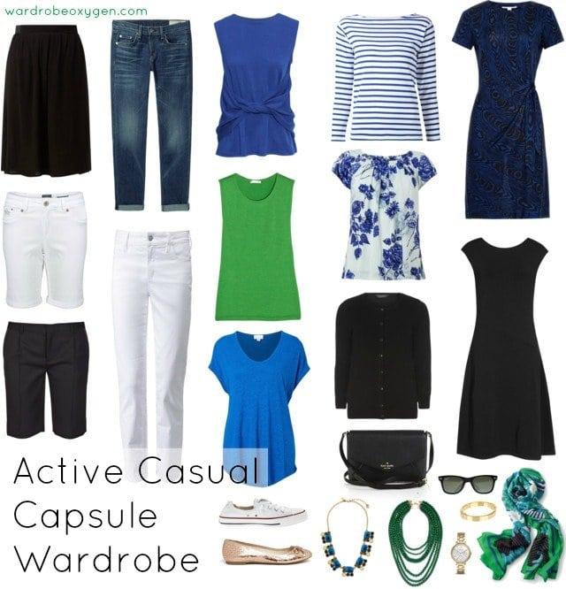 capsule wardrobe casual active over 60 featured by popular Washington DC fashion blogger, Wardrobe Oxygen