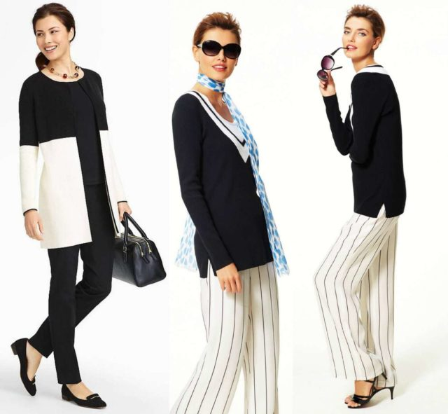 talbots spring 2015 black and white