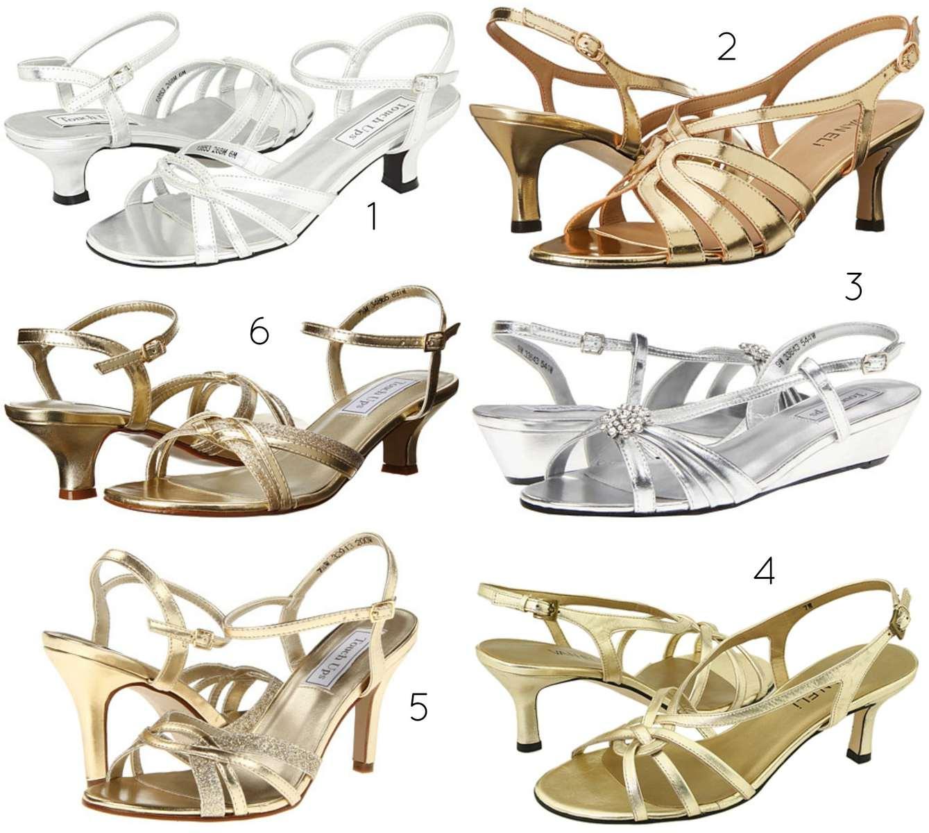 wide width metallic shoes