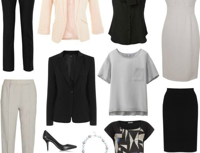 capsule wardrobe professional wear to work