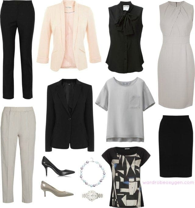 capsule wardrobe professional wear to work