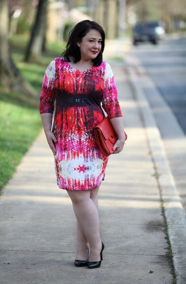 Red Print Dress by Triste via Gwynnie Bee