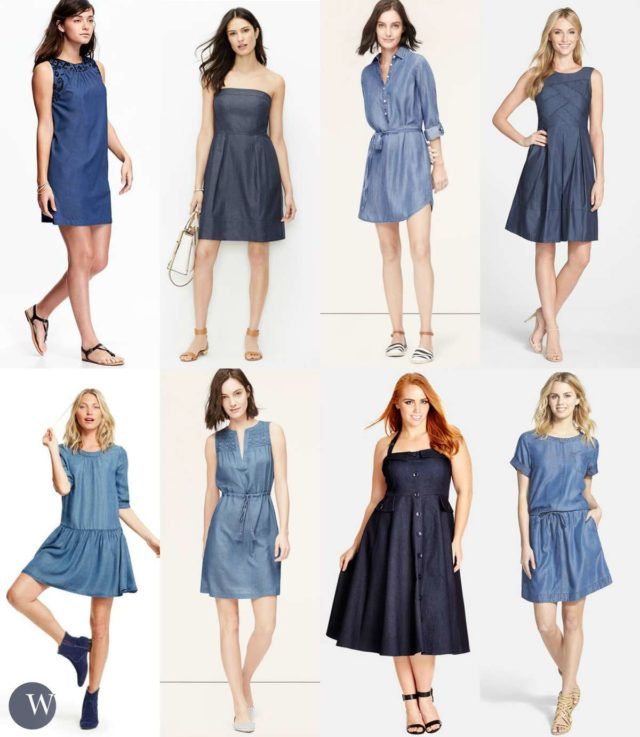 denim dress trends for spring