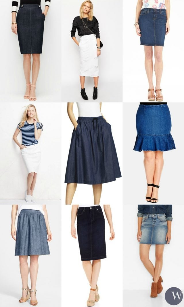 denim skirt fashion trends summer
