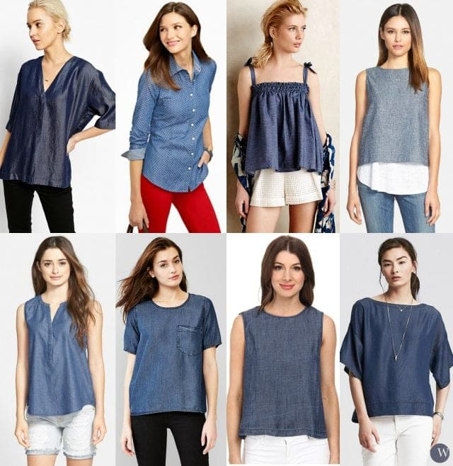 denim top shirt fashion trend for summer