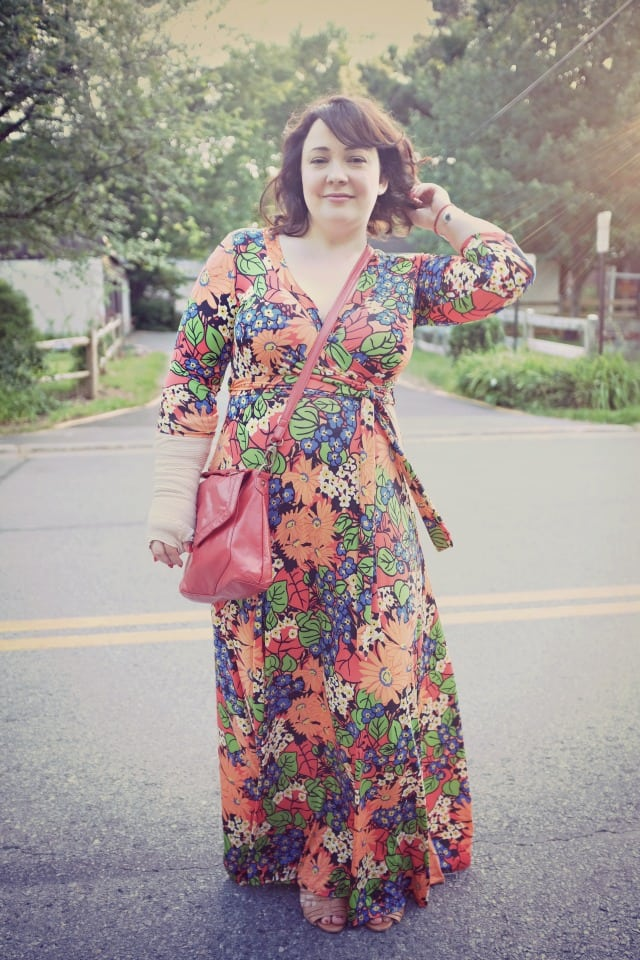 etsy wrap maxi dress