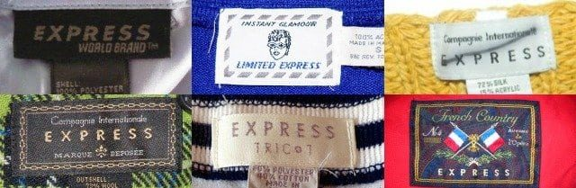 express clothing labels history