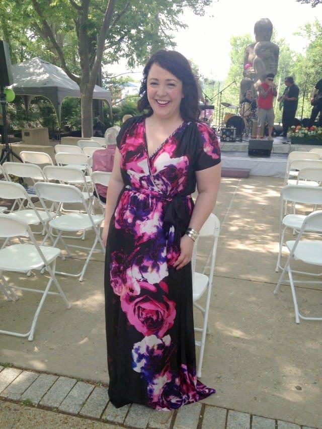 myhabit silk wrap maxi dress