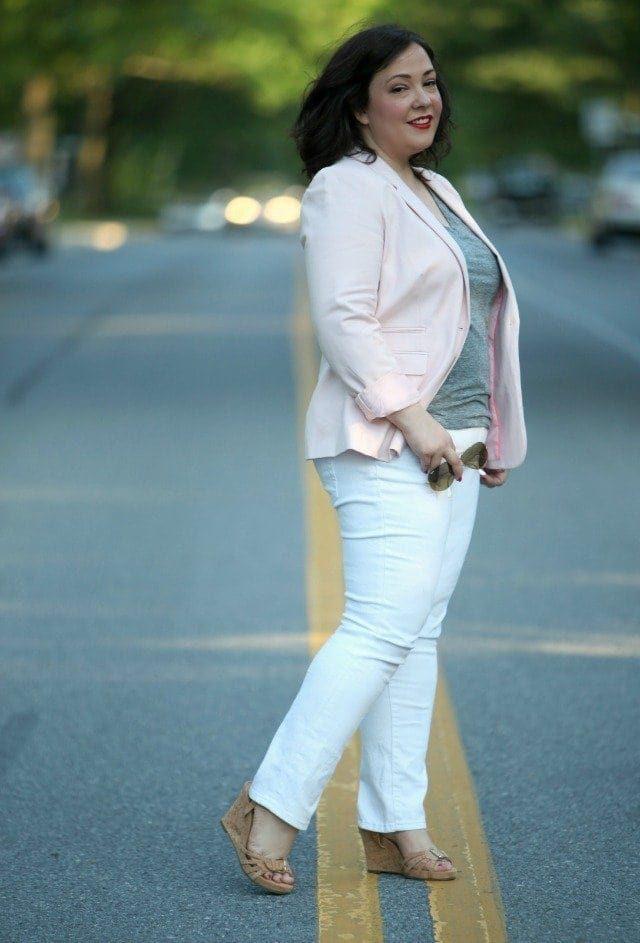vince camuto taffy pink blazer