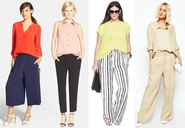 summer office fashion loose pants blouse