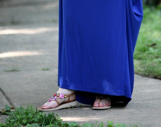 What I Wore: Ode to a Grecian Urn featuring Koh Koh dress, Yellow Box Footwear, and a necklace from Sweet & Spark
