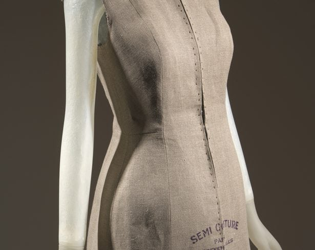 Even the avant garde fashion industry takes on its own standards (though one could argue that's the point of avant garde fashion itself). In his spring 1997 collection, Martin Margiela, known for deconstructing the typical, examined the dress form and its implied standardization by mimicking it in a linen jacket. Image courtesy The Museum at the Fashion Institute of Technology (FIT) Online Collections.