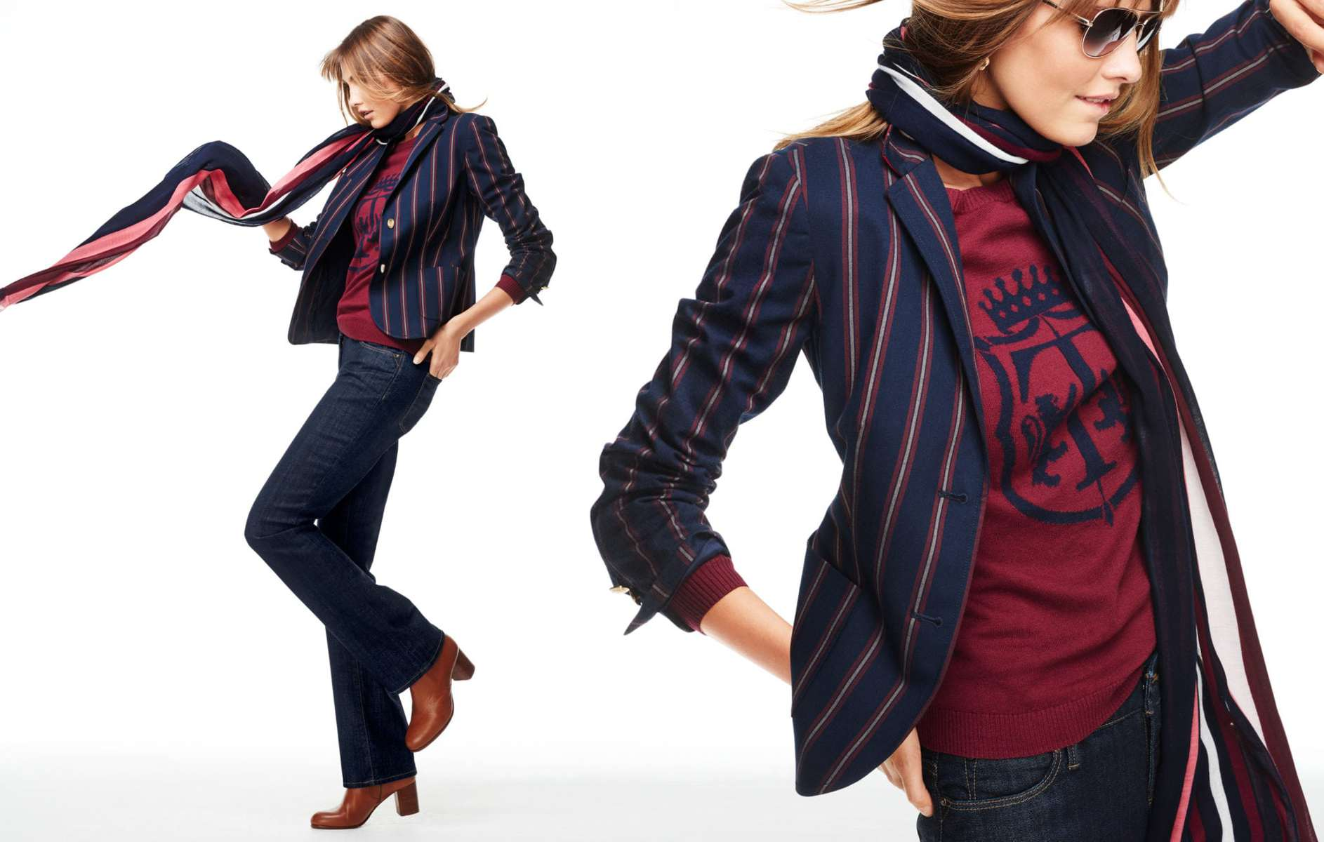 Talbots Fall 2015 Look Book Preview Feautring Varsity Stripe Blazer