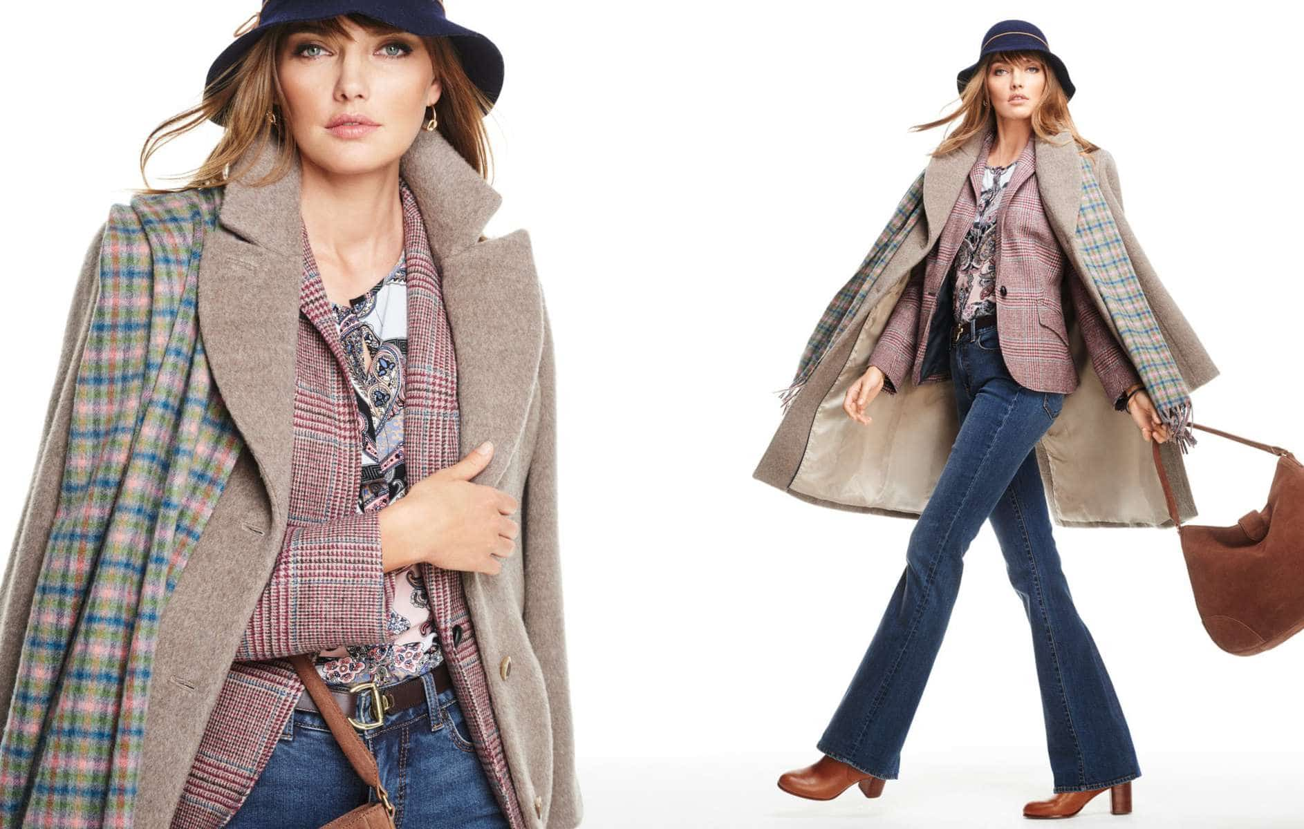 Talbots Fall 2015 Look Book Preview featuring Annie Hall Inspired Denim Look