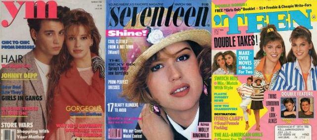 80s teenager magazines ym teen seventeen