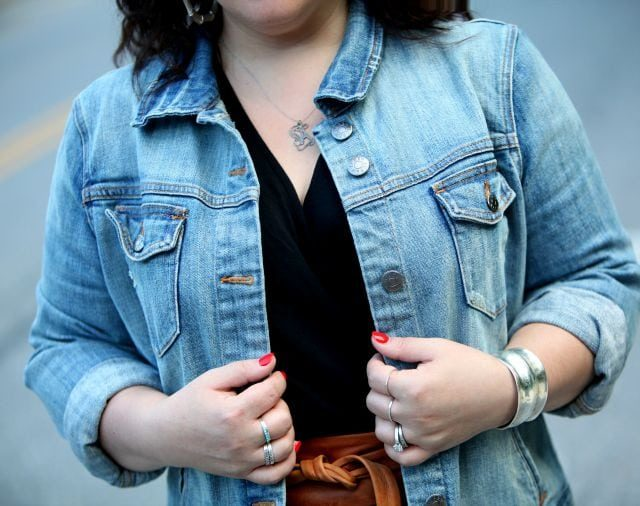 Wardrobe Oxygen featuring a J. Crew Factory denim jacket