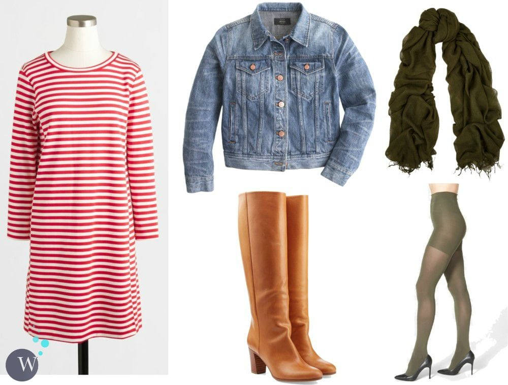 how to style a tee shirt dress for fall and winter