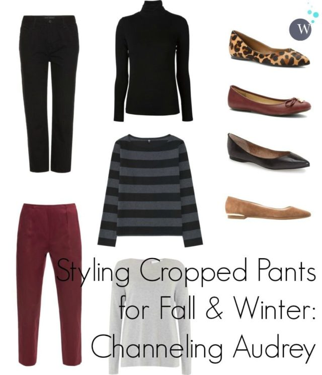 how to style cropped pants for fall and winter