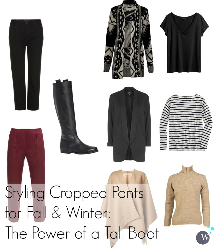 how to wear cropped pants into fall and winter