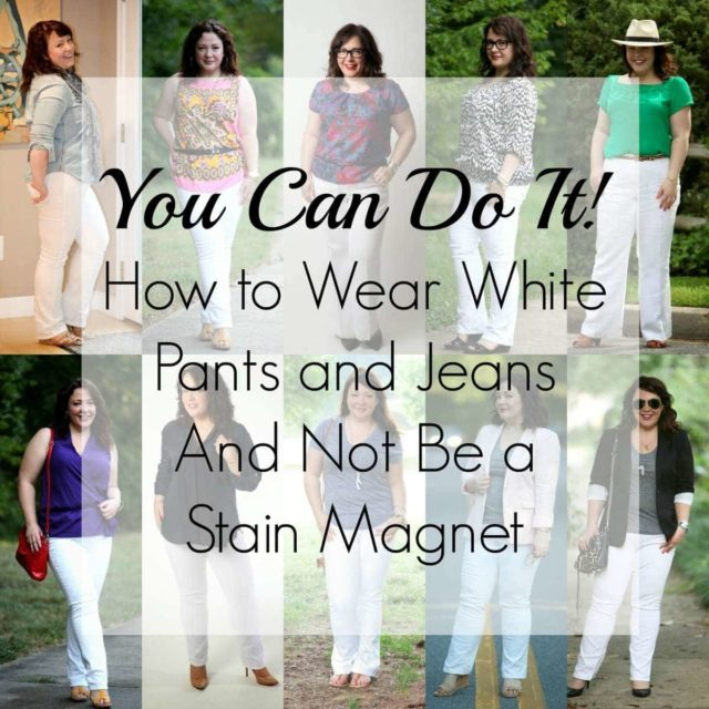Wardrobe Oxygen: How to Wear White Pants and Jeans and not be a Stain Magnet