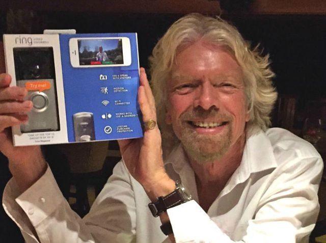 richard branson invest ring video doorbell