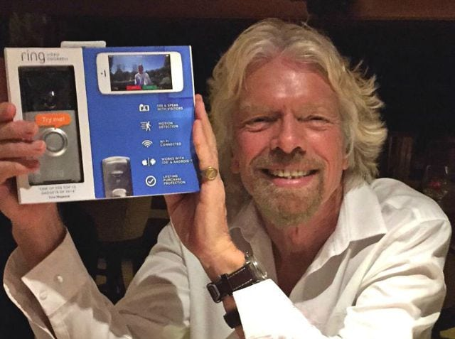 richard branson invest ring video doorbell