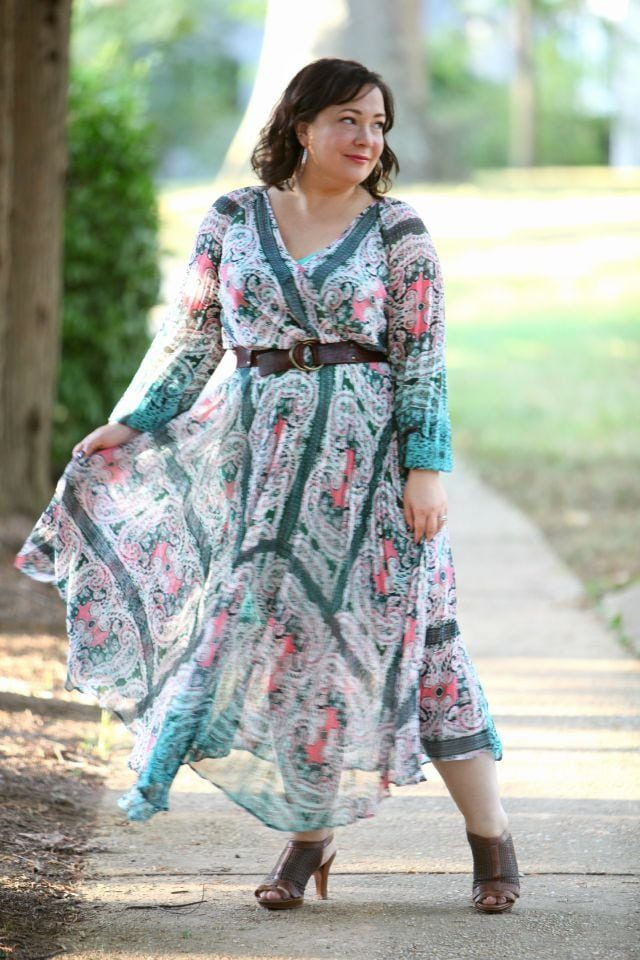 Wardrobe Oxygen featuring a paisley chiffon maxi dress from Charlie Jade