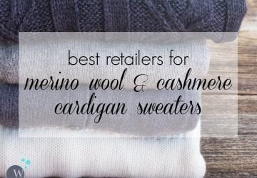 Ask Allie: Merino and Cashmere Cardigans