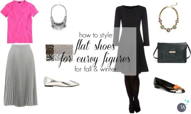 how to style flat shoes for curvy figures