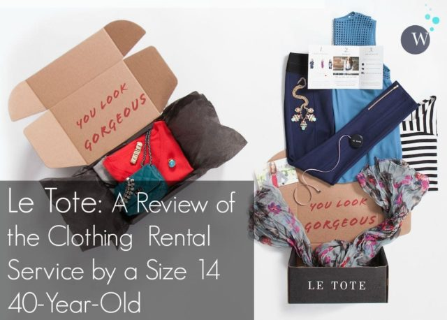 A review of Le Tote by Wardrobe Oxygen. Opinion as a size 14 and discussion on whether the clothing is a good fit for women over 35.
