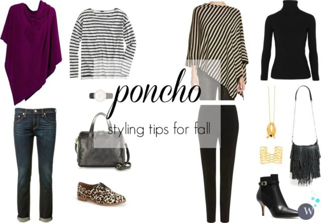 poncho styling tips for fall by wardrobe oxygen