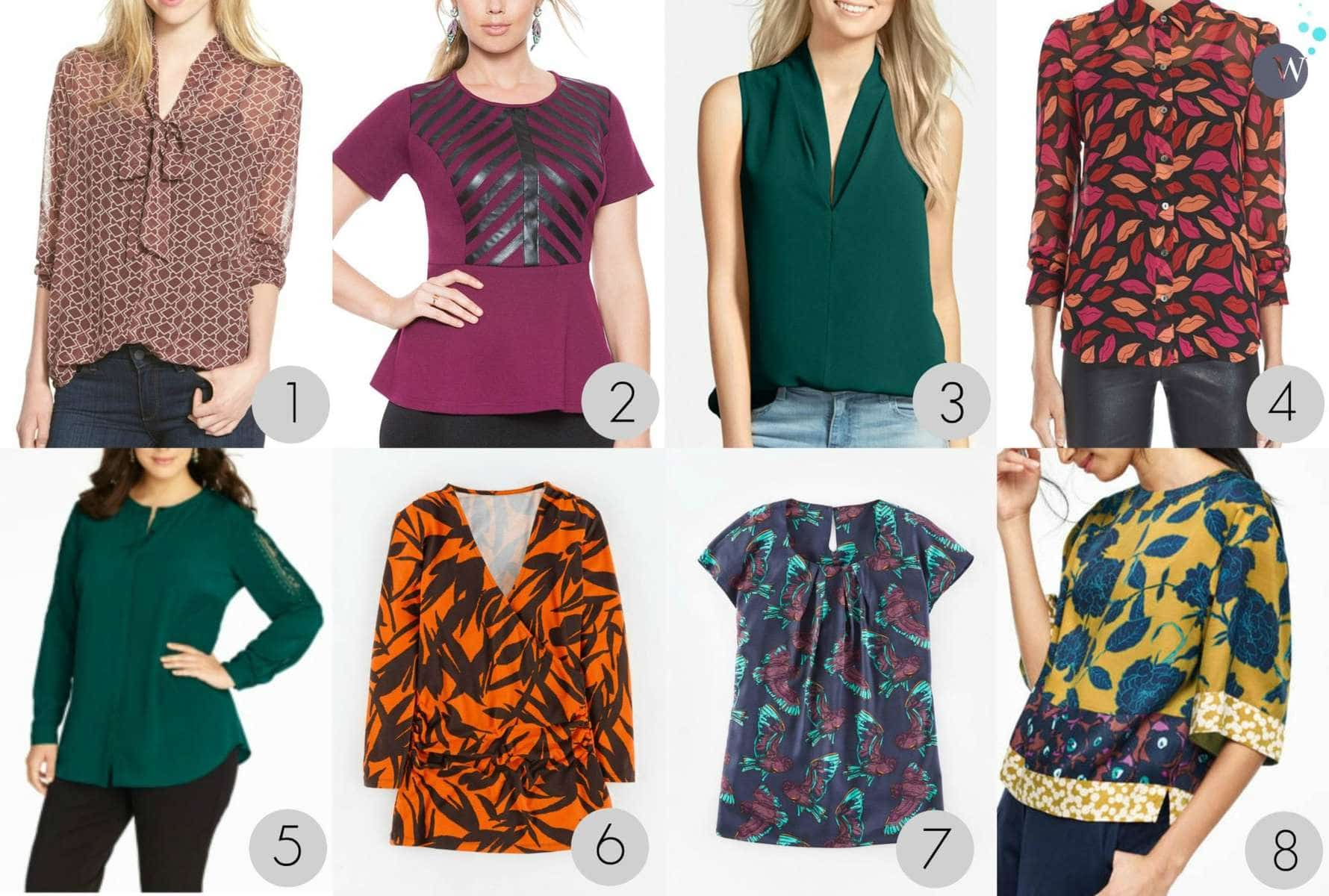 warm weather fall blouses and tops via wardrobe oxygen